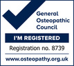 General Osteopathic Council registration mark